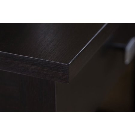 Scranton & Co Open Storage Desk in Espresso Oak - image 1 de 6