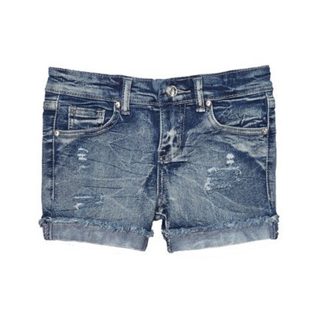 Girls Denim Cut Off Shorts
