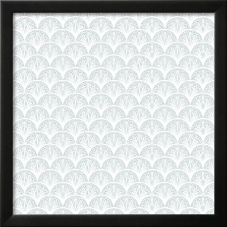 Art Deco Vector Geometric Pattern in Silver White. Framed Art Print ...