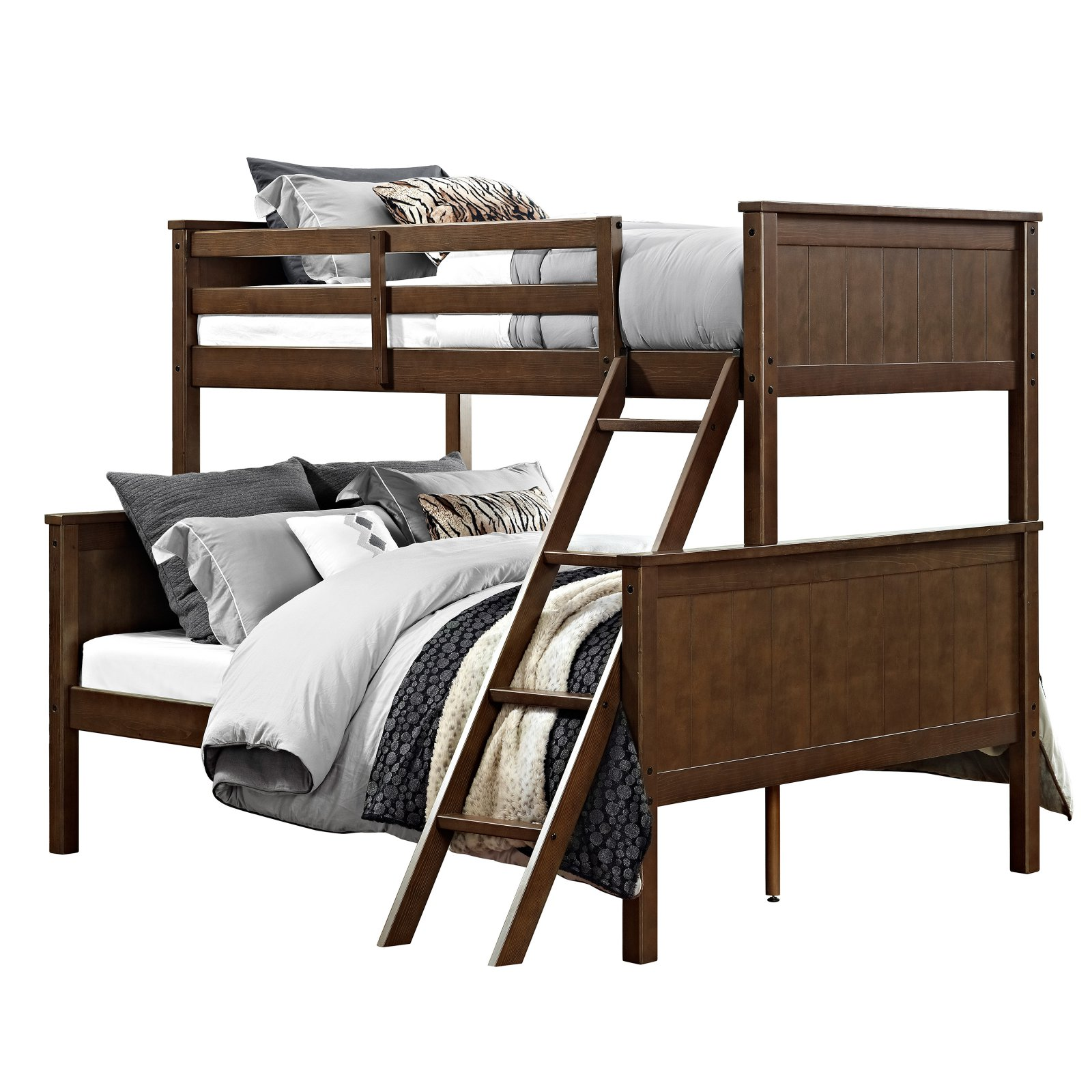 Dorel Living Maxton Twin over Full Bunk Bed - Mocha
