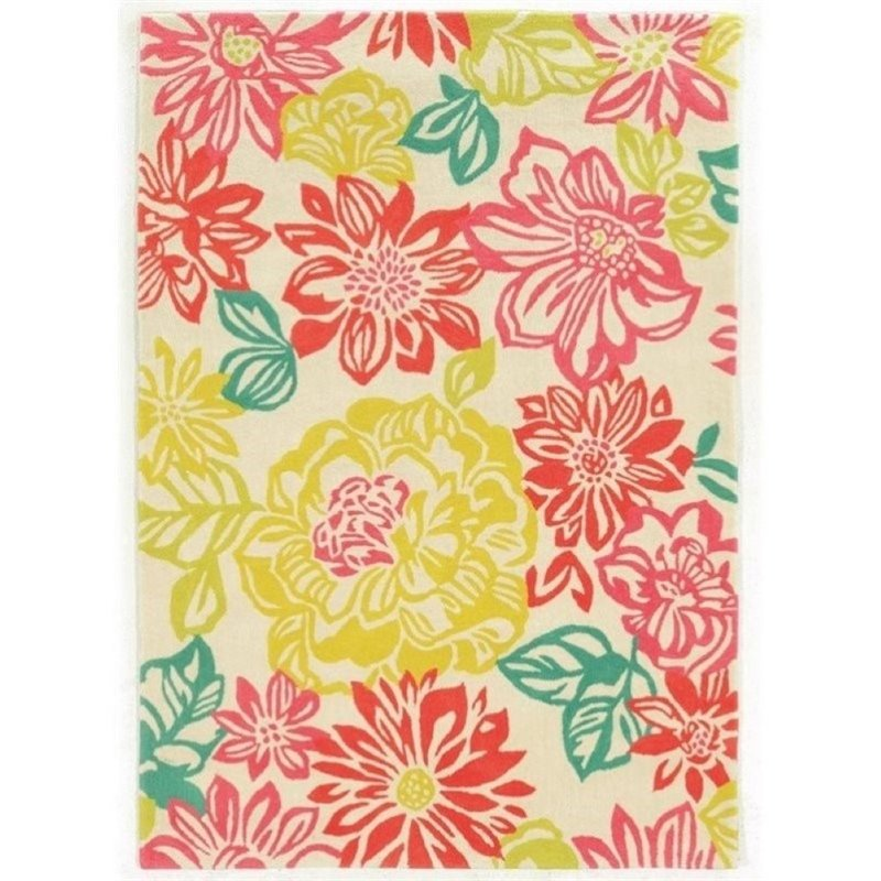 Hawthorne Collection 5' x 7' Hand Tufted Rug in Pink