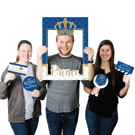 Royal Themed Baby Shower (Royal Prince Charming - Baby Shower or Birthday Party Photo Booth Picture Frame & Props - Printed on Sturdy)