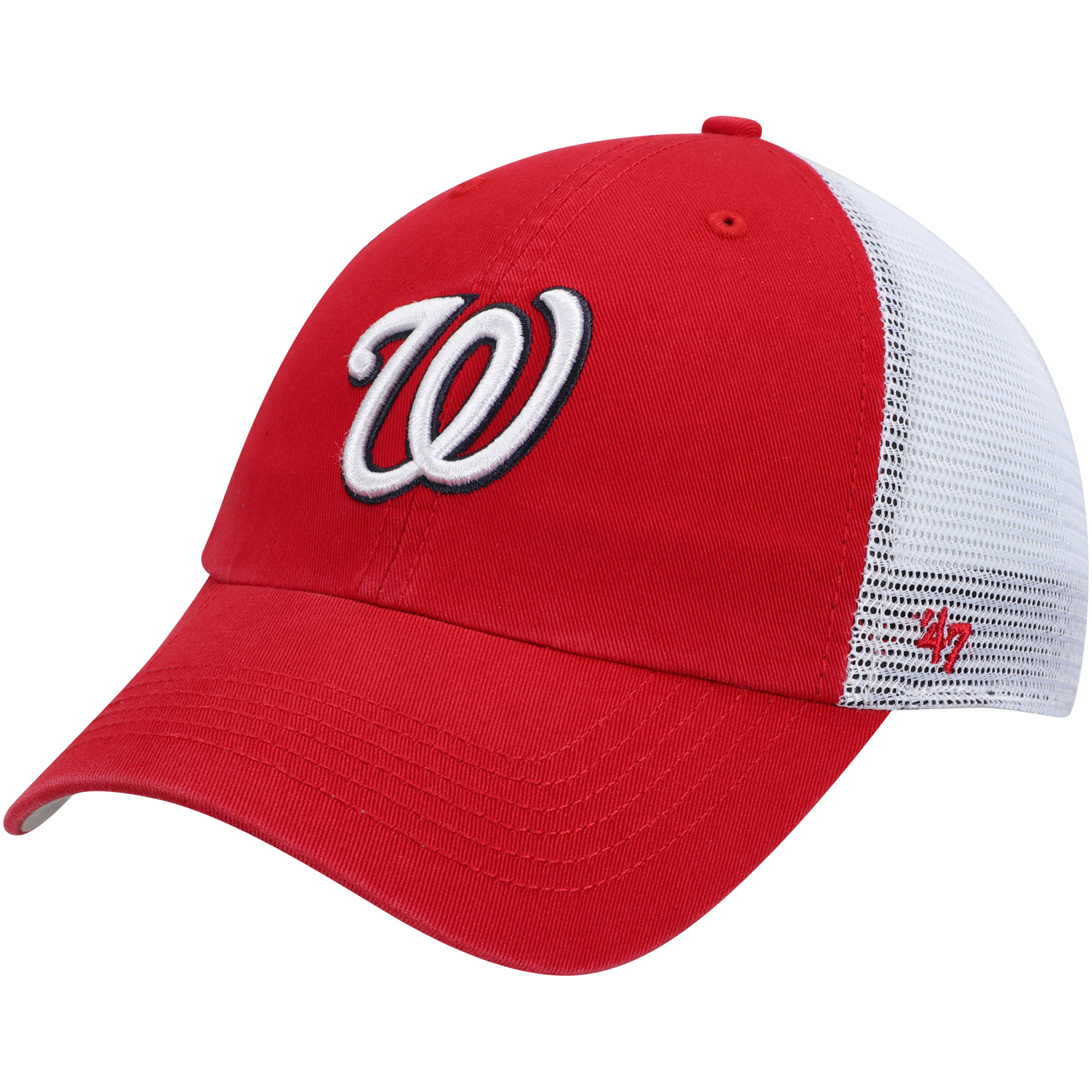 Washington Nationals '47 Blue Hill Closer Flex Hat - Red/White - OSFM