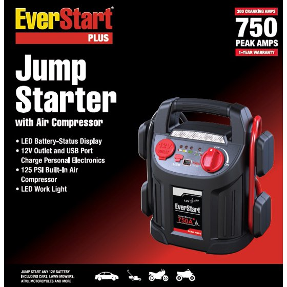 Everstart 750 amp jump starter with air compressor walmart fandeluxe Images