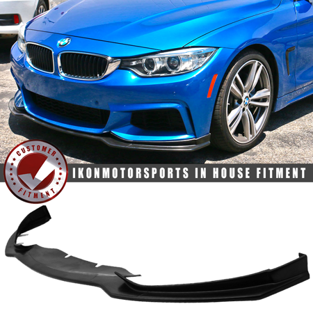 Bmx Bumper (Fits 14-19 BMW F32 F33 F36 4-Series MSport MT Type E Front Bumper Lip - PU )