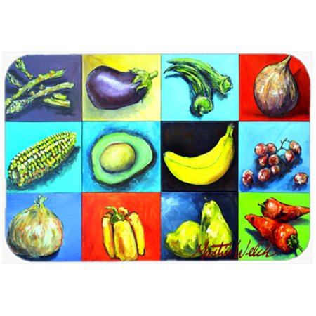 Mix Board - Caroline's Treasures Mixed Fruits and Vegetables Glass Cutting Board Large