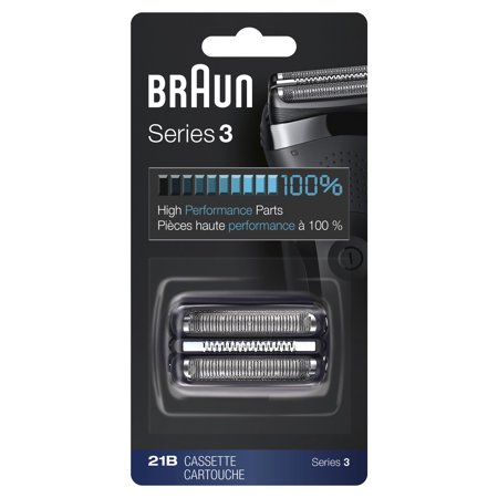 Braun Shaver Replacement Part 21B Black - Compatible with Series 3 shavers