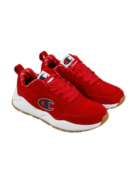 92c4f8f793d43 Product Image Champion 93 Eighteen Big Mens Red Suede Athletic Lace Up  Training Shoes