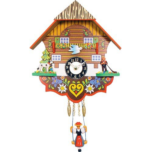 Quartz Dog and Herder Cuckoo Clock