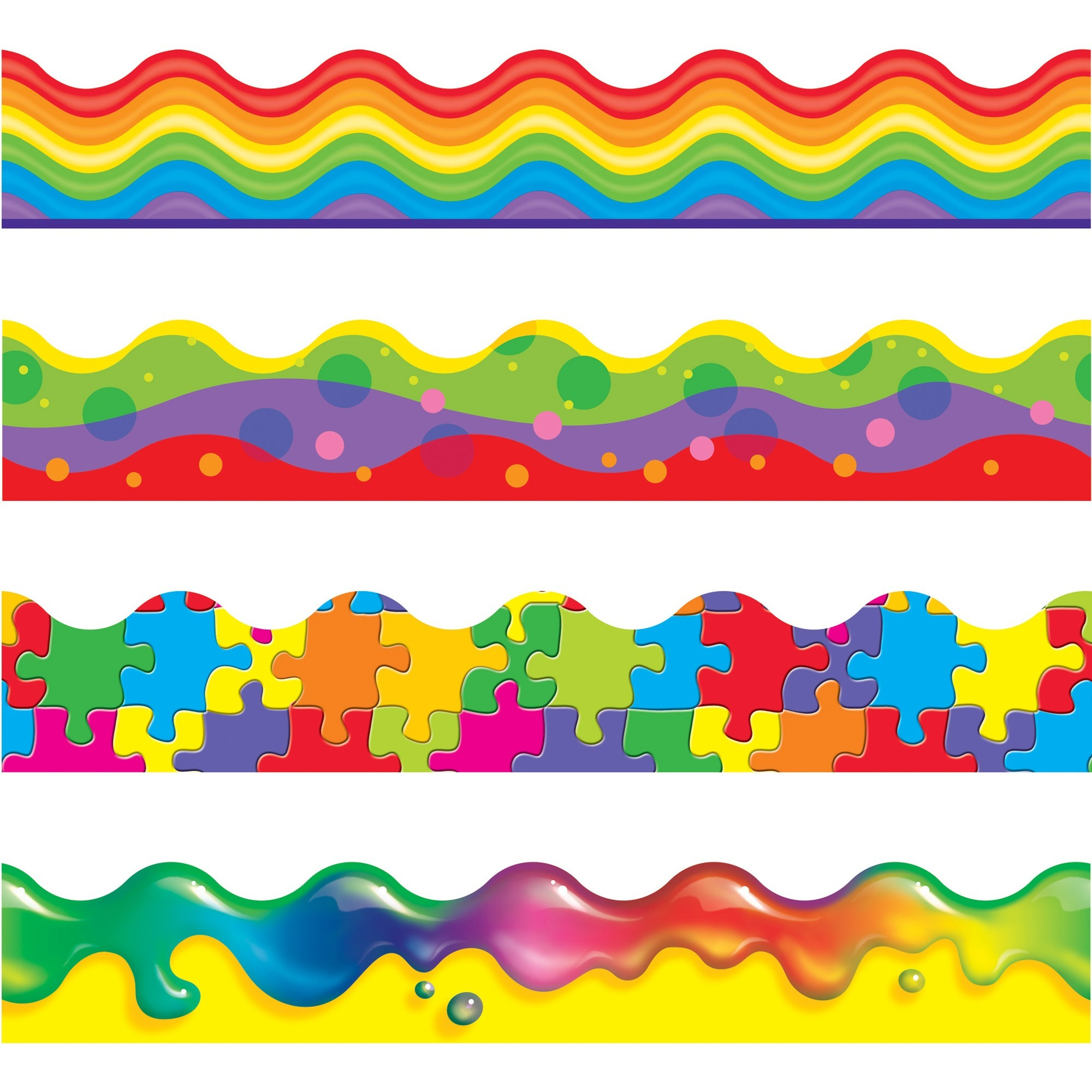 Trend, TEP92916, Color Blast Bolder Borders Variety Pack, 1 Set, Assorted