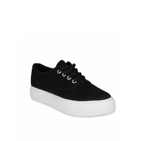 Nature Breeze Lace Up Women's Canvas Sneakers in Black ()
