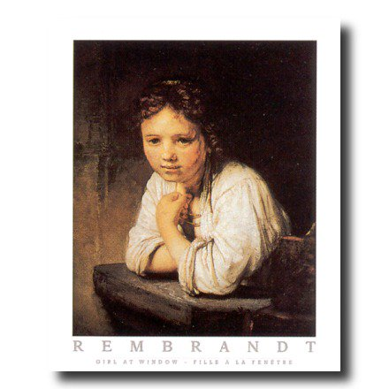 Rembrandt Victorian Girl Desk Wall Picture Art