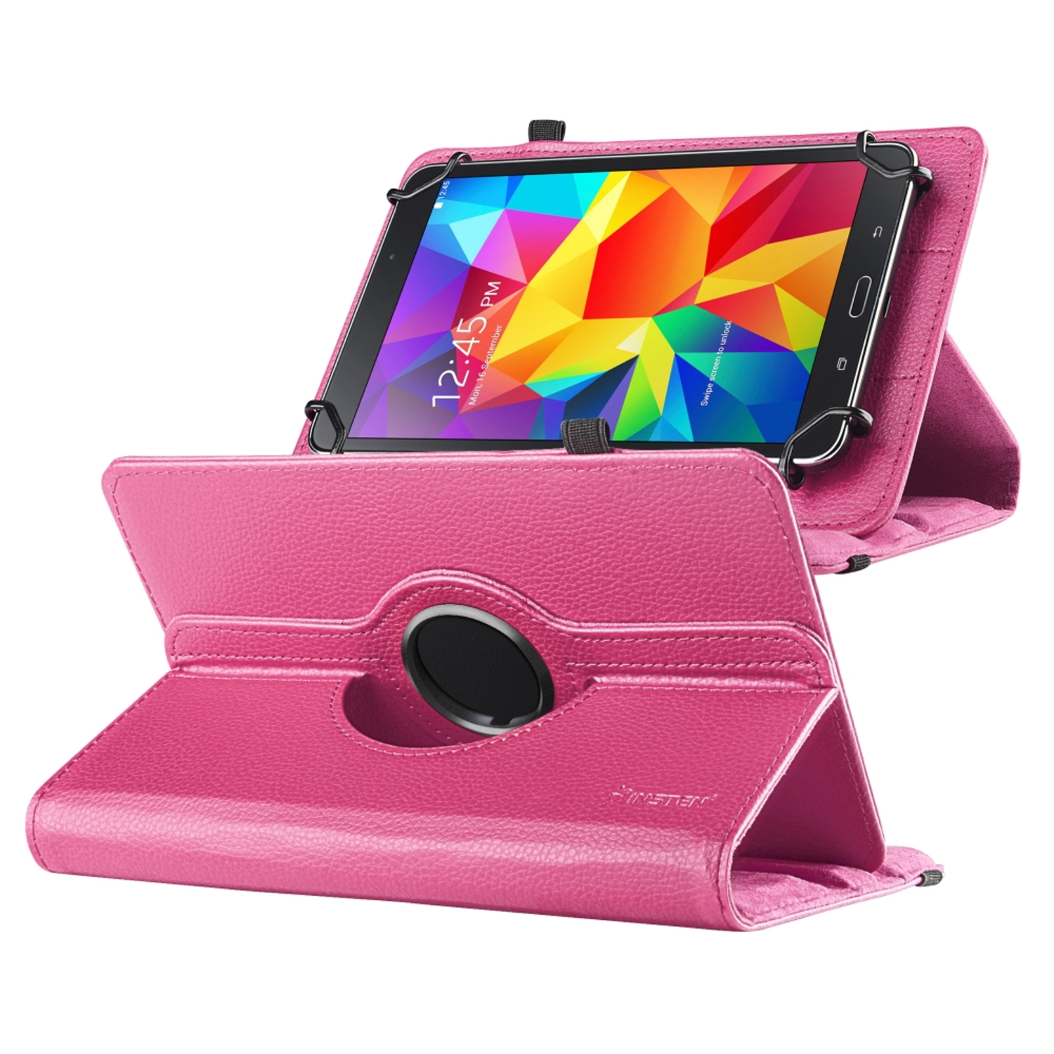 "Insten Universal Hot Pink 7"" Tablet Leather Case with Stand For Nextbook/RCA/Double Power/Visual Land/Ematic/Nobis/HP Stream/Samsung Galaxy Tab"