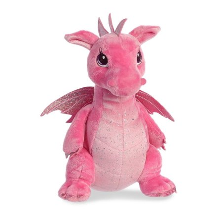 Dahlia Dragon 12 Inch (Sparkle Tales) - Stuffed Animal by Aurora Plush (30836)