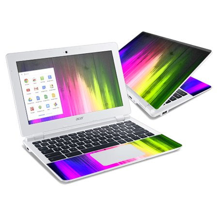 Mightyskins Protective Vinyl Skin Decal Cover for Acer Chromebook 11 CB3-111 Laptop Cover wrap sticker skins Rainbow covid 19 (Rainbow Vinyl Laptop Skin coronavirus)