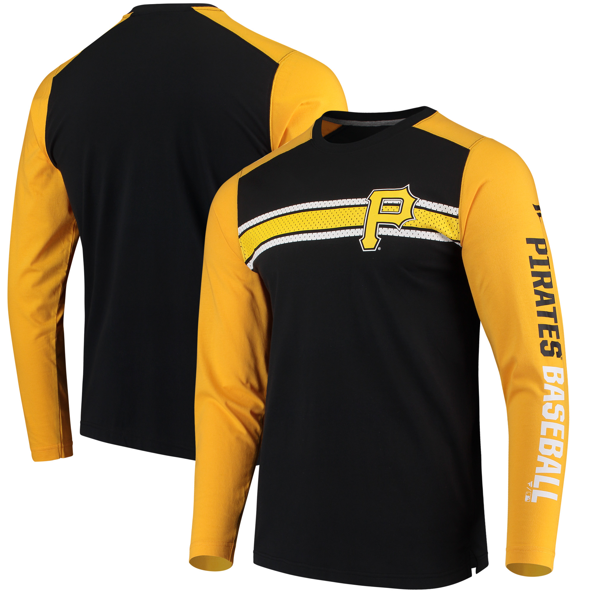 Pittsburgh Pirates Fanatics Branded Iconic Long Sleeve T-Shirt - Black