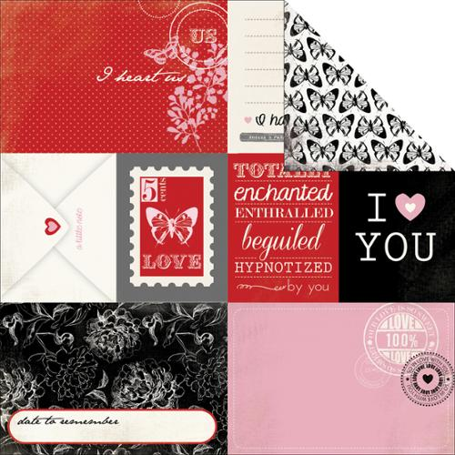 "Words Of Love Double-Sided Cardstock 12""X12""-Journaling Cards"