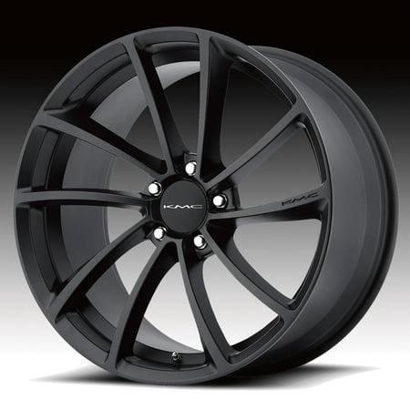 KMC KM691 Spin Satin Black 18x8 5x4.5 40mm (Spin Satin)