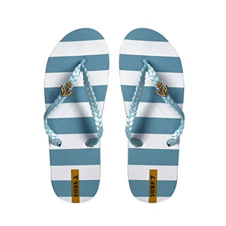 a50034bf50b Peach Couture - Peach Couture Womens Striped Nautical Anchor Strappy Sandals  Flats Flip Flops Sky Blue 7 B(M) US - Walmart.com