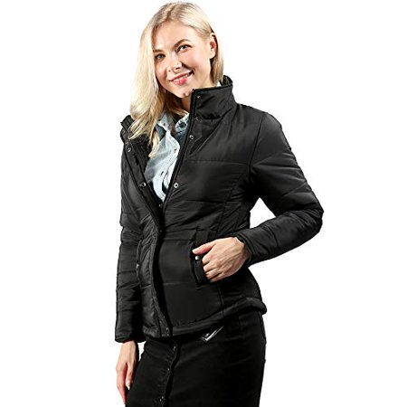 - High neck puffer jacket