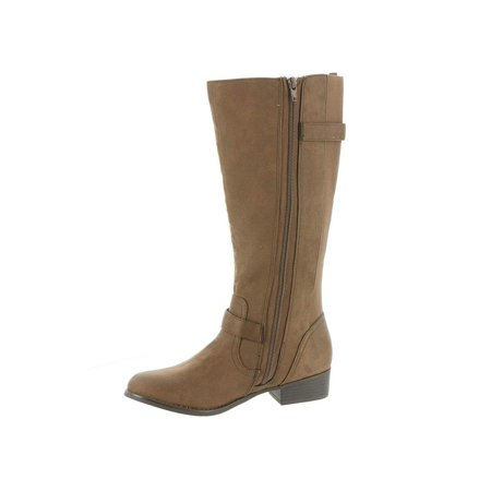Mia Womens Luise Leather Almond Toe Knee High, Brown Distressed, Size 10.0