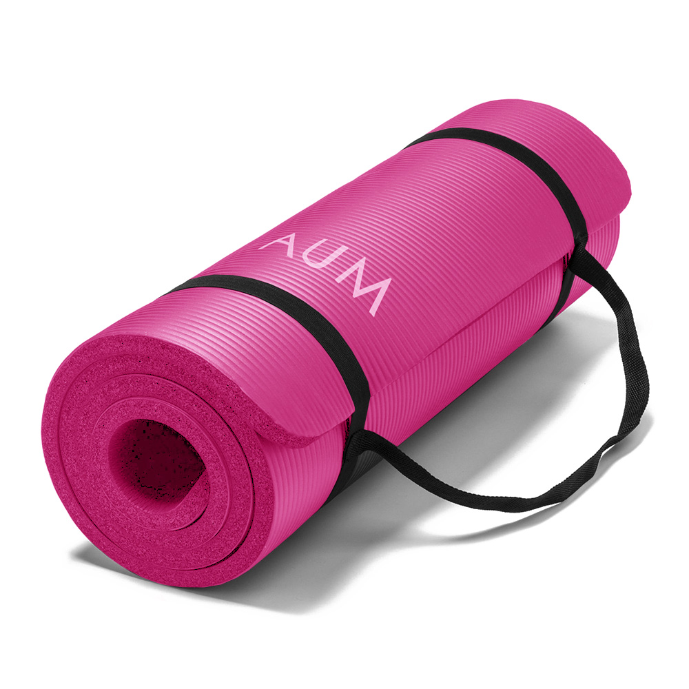 "AUM High Density HD Foam Tech Yoga Exercise Mat - 72"" x 24"" x 1/2"""