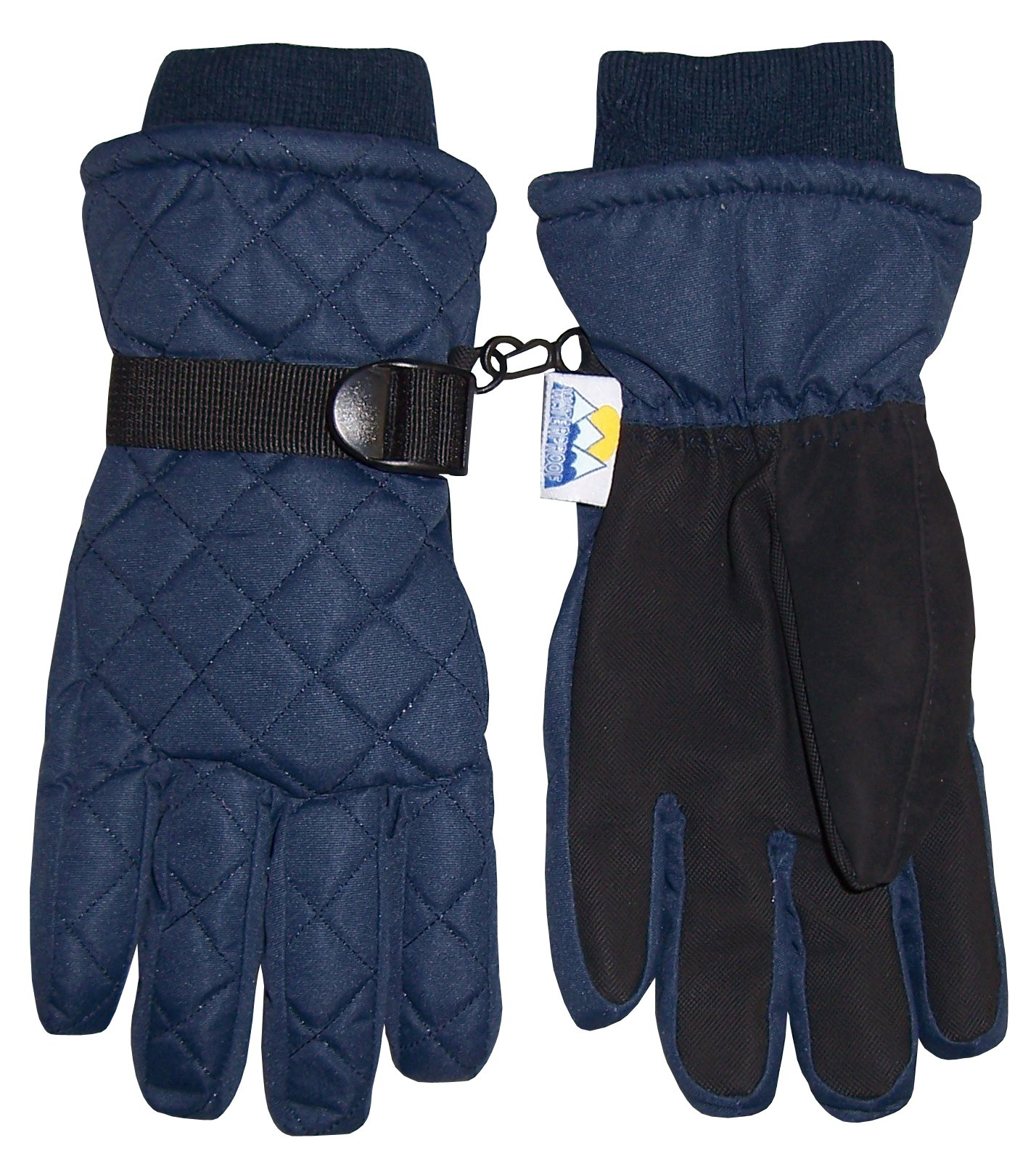 NICE CAPS Kids Boys Girls Winter Thinsulate Waterproof Quilted Ski Snow Gloves - Fits Childrens Childs Youth Toddlers Sizes