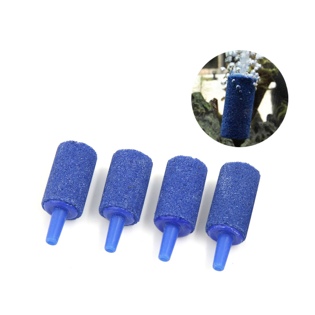 4 PCS 25x15mm Blue Bubble Air Stones Diffusers for Small Fish Tank