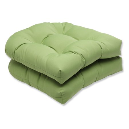 Pillow Perfect Outdoor Indoor Wicker Seat Cushion With