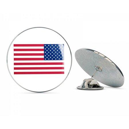 "Reversed American Flag Patch Steel Metal 0.75"" Lapel Hat Shirt Pin Tie Tack Pinback"