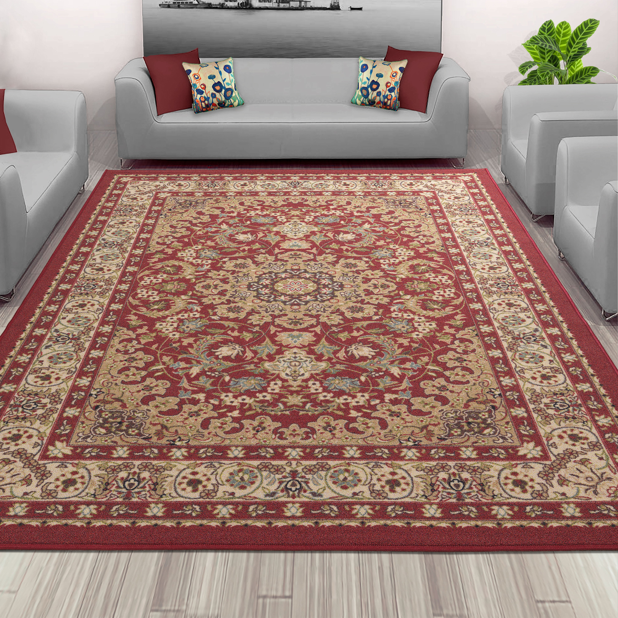 Sweet Home Stores Sweet Home Collection Medallion Design Indoor & Kitchen Area or Runner Rug