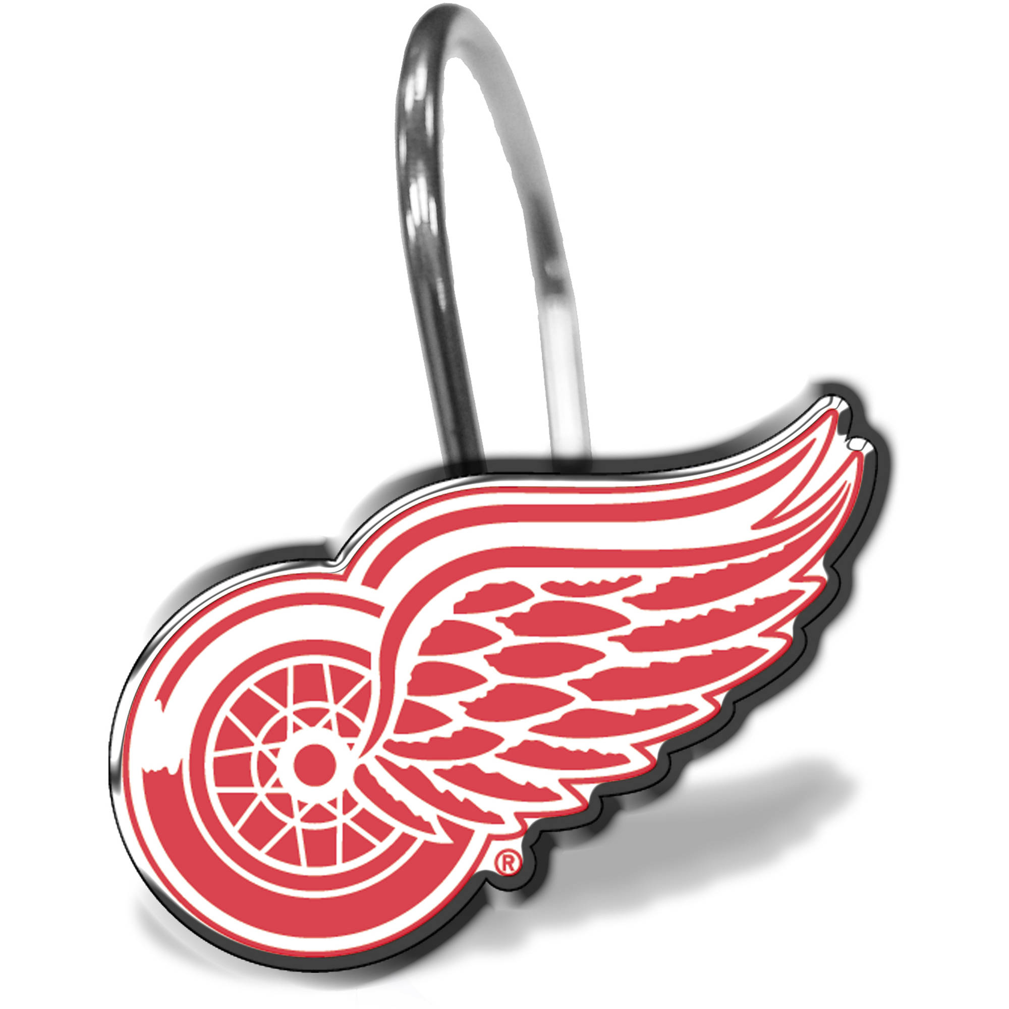NHL Detroit Red Wings 12-Piece Shower Curtain Ring Set