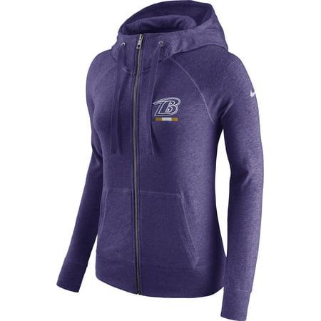 Baltimore Ravens Nike Women's Gym Vintage Full Zip Hoodie Purple