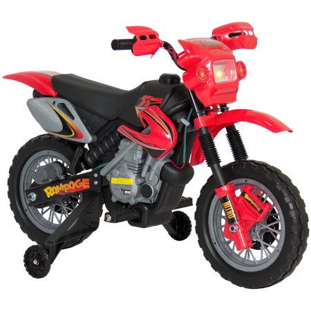 Best Choice Products Kids 6V Electric Ride On Motorcycle Dirt Bike w/ Training Wheels -