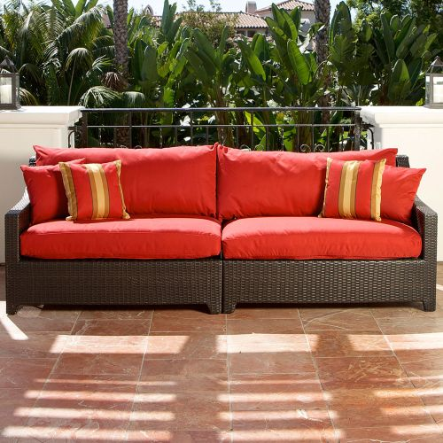 RST Brands  Deco Sofa  Outdoor Furniture  Deco  Furniture  Outdoor Sofas  ;Cantina Red with Sunbrella