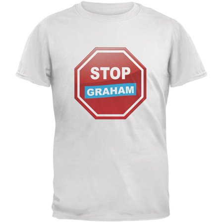 Election 2016 Stop Graham White Adult T-Shirt