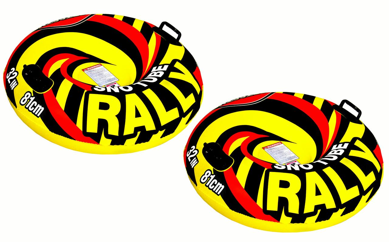 SPORTSSTUFF RALLY Snow Tube Winter Sledding Fun for All 2 Pack by
