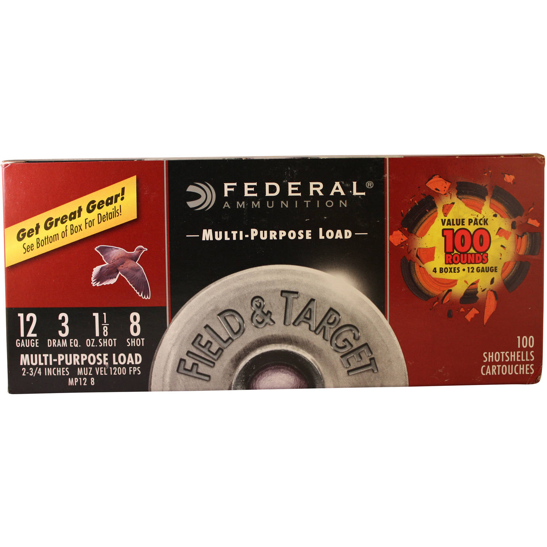 Federal Ammunition 12-Gauge 3 DRAM, 100ct – Walmart