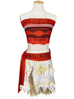 1d8b058efc Product Image KINOMOTO Moana Princess Dress Up Girls Adventure Outfit  Polynesian Cosplay Costume(150CM)