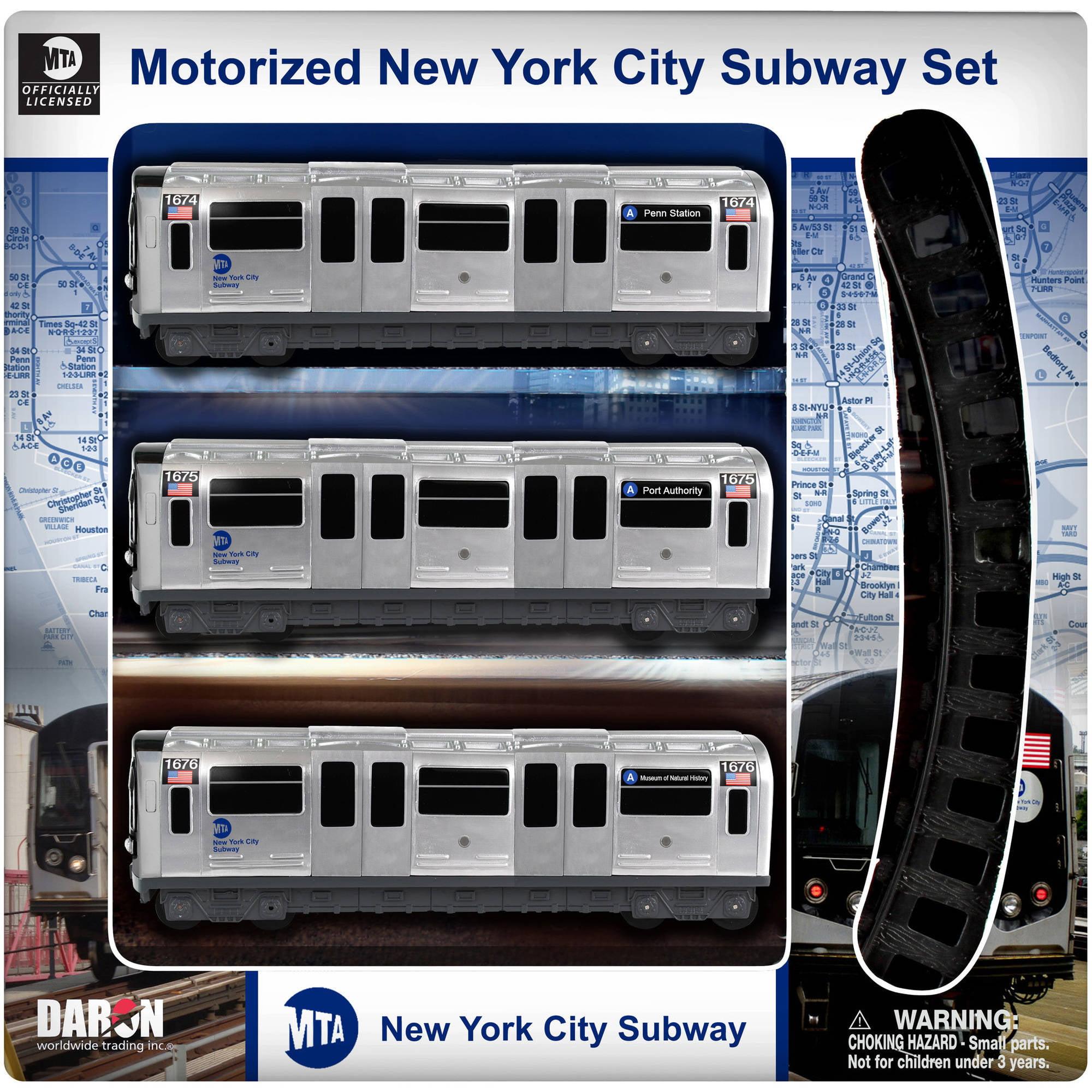 Daron New York MTA 3-Piece Subway Set with 8-Piece Track