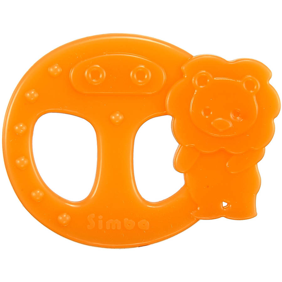 Simba Ring Silicone Teether, Orange