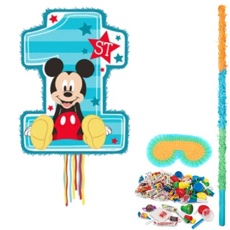 Mickey Mouse 1st Birthday Pinata Kit - Mickey Mouse 1st Birthday Party Ideas