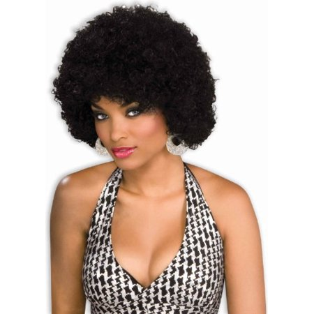 Forum Novelties Women's Afro Glamour Costume Wig, Black, One Size - Beehive Wig Black
