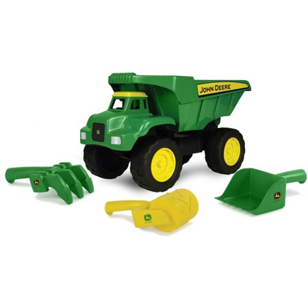 John Deere Big Scoop Toy Dump Truck with Sand Tools, 15