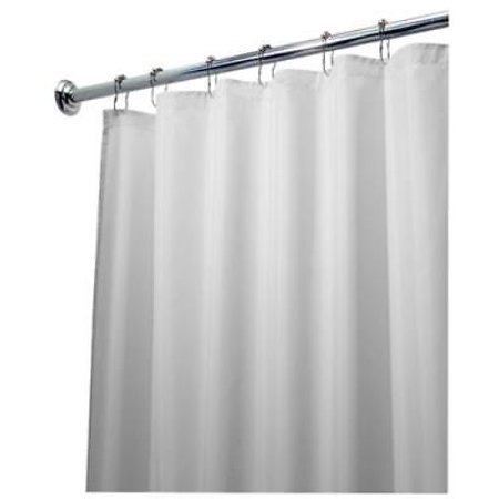 72 X 84 White Fabric Shower Curtain Liner Quality Polyester Only One