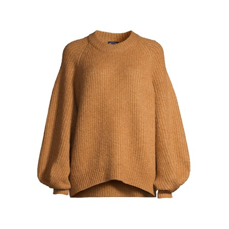 Scoop Women's Balloon Sleeve Crewneck Sweater