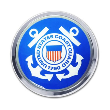 Guard Emblem - Coast Guard Seal Chrome Emblem