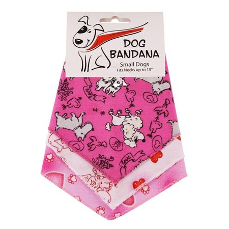 (Bandanas Unlimited S7 SMALL DOGS 3 Piece 20 in. Tie on Valentines Day Dog Triangle Bandana, Small)