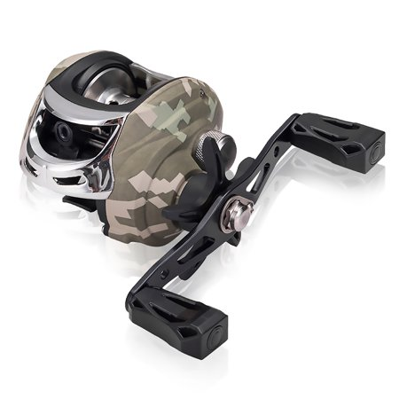 5+1 Ball Bearings Baitcasting Fishing Reel with 7.3:1 Gear Ratio Fishing Bait Casting Reel