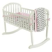 Baby Doll Bedding Classic II Cradle Bedding Set Pink